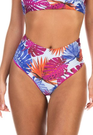 Calcinha Hot Pants Dupla Face Estampa Tropical Adocicado
