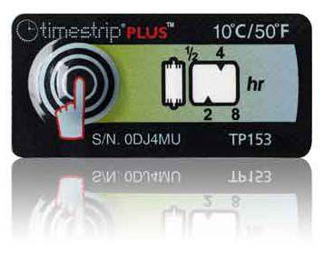 (10°C/50°F) 8h - Timestrip PLUS TP-153