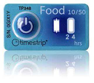 (10°C/50°F) 4h - Timestrip Food TP-348
