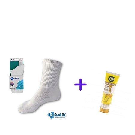 Kit Creme Ultra Hidratante + Meia para Pés Diabéticos