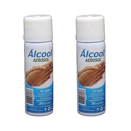 2 FRASCOS ÁLCOOL AEROSOL ANTISSÉPTICO 70% - ARMAQ