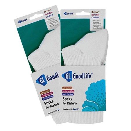 Kit 2 pares de meia para pés diabéticos Good Life