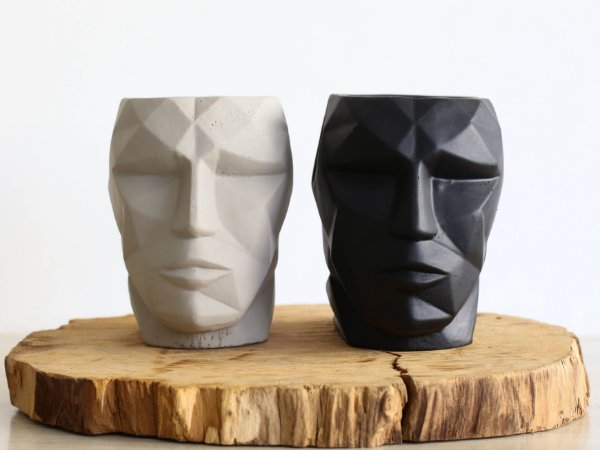 Cachepot Face 3D | Pote Pequeno