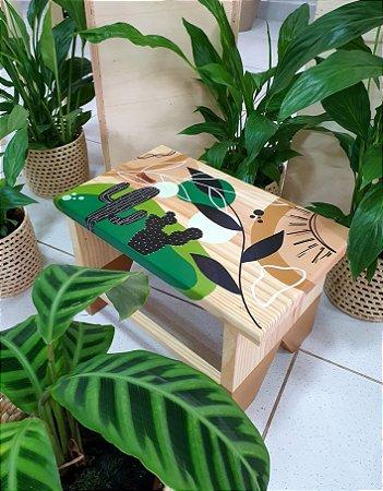 Banqueta em madeira - Sumatra