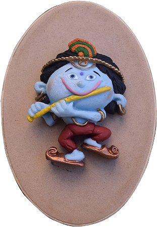 Caixinha relevo Krishna flautinha