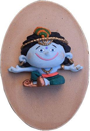Caixinha relevo Krishna meditando