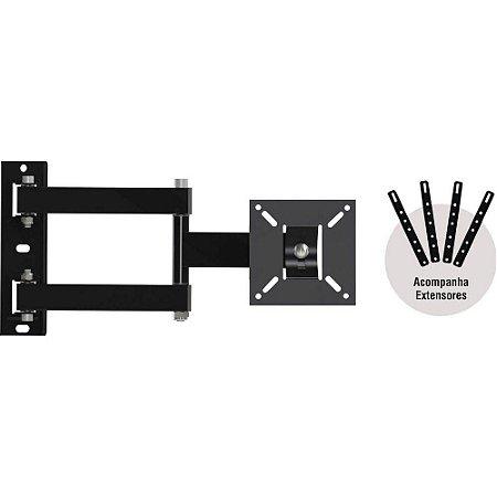 """Suporte ARTICULADO para TV LED, LCD, Plasma, 3D e Smart TV de 10'' a 56"""" BRASFORMA BRA 4.0"""