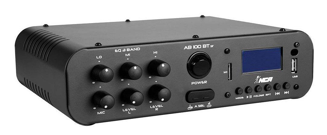 Amplificador Compacto NCA linha AB100 BLUETOOTH STEREO