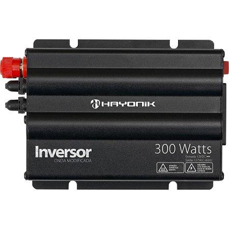 Inversor 300W Entrada 12VDC Saída 127V Onda Modificada HAYONIK