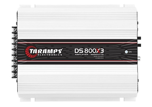 Módulo Amplificador TARAMPS DS 800x3 Classe D 800 Watts 2 Canais 200W RMS | 1 Canal 400W RMS