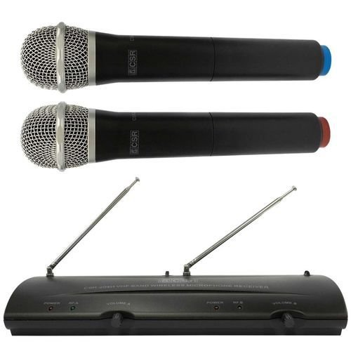 Microfone SEM FIO DUPLO CSR-204H VHF