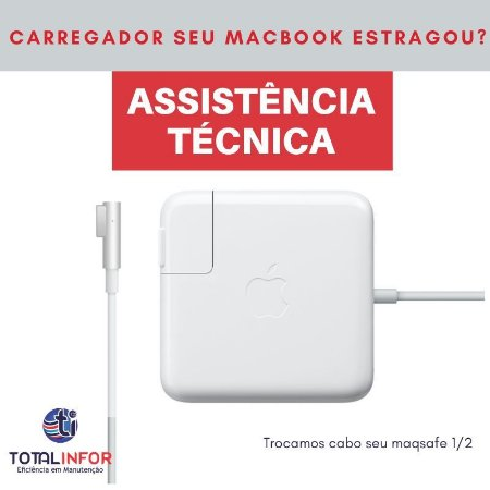 Carregador MacBook Pro, MacBook Air, Retina 6 Meses Garantia