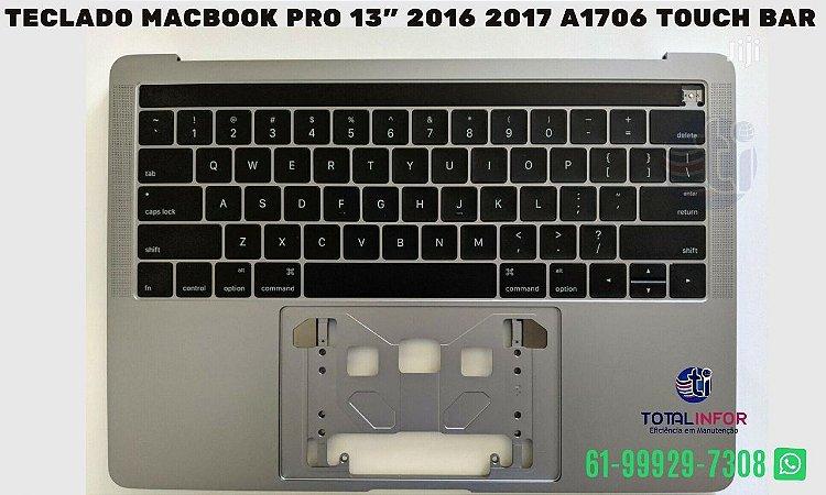 """Teclado Macbook Pro 13"""" 2016 2017 A1706 touch Bar"""