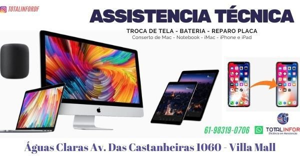 Assistência Técnica notebook Águas Claras
