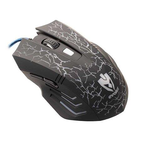 Mouse Gamer RGB com Fio EG-102 Evolut