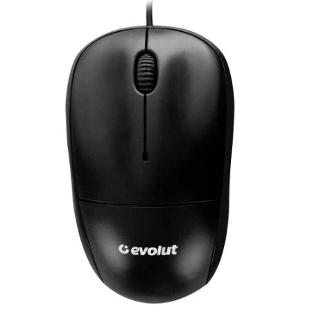 Mouse USB Preto EO-102 Evolut