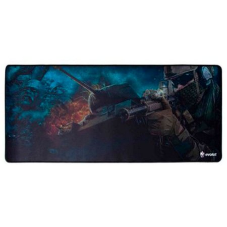 Mouse Pad Gamer Grande FPS EG-402 Azul Evolut