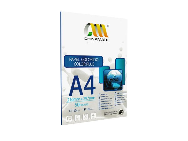 Papel Color Plus Laranja A4 180g 50fls