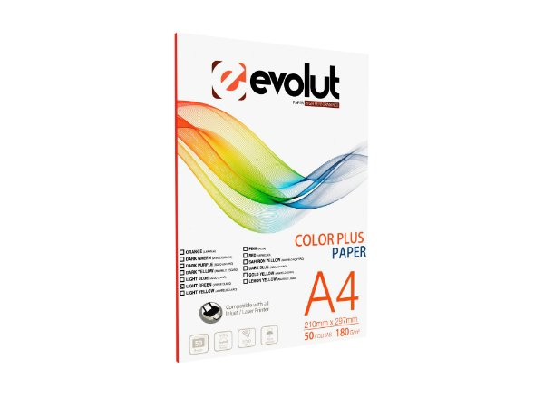 Papel Color Plus Verde Claro A4 180g 50fls