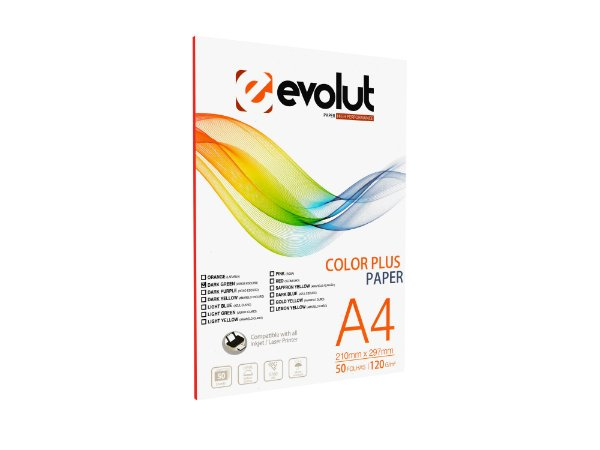 Papel Color Plus Verde Escuro A4 120g 50fls