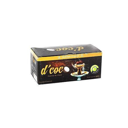 Carvão Vegetal de Coco Hexagonal 500g D'Coco