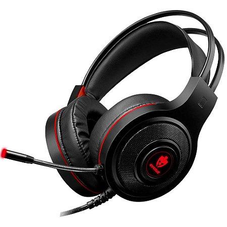 Headset Gamer com Fio Têmis EG-301 Vermelho Evolut
