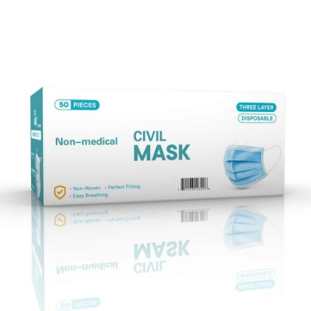 Máscara Descartável Tripla com Elático Caixa com 50 unid.