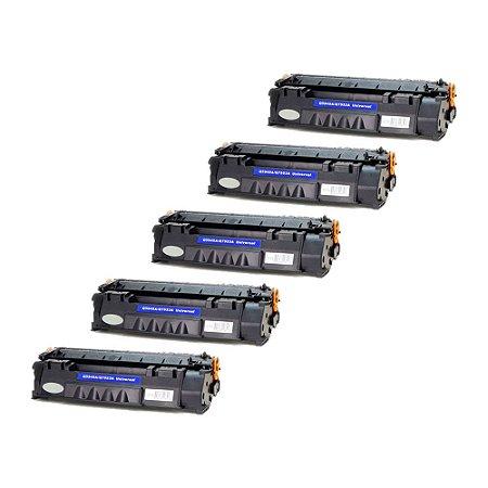 Compatível: Kit 5 Toner HP 7553A | 5949A 3k Evolut