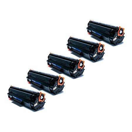 Compatível: Kit 5 Toner HP CE285A | 278a | CB435A | CB436A 2k Evolut