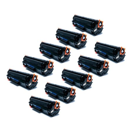 Compatível: Kit 10 Toner HP CE285A | 278a | CB435A | CB436A 2k Evolut