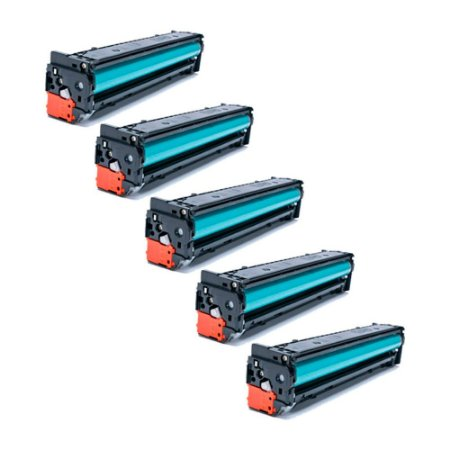 Compatível: Kit 5 Toner HP CB543 | CE323 | CF213 Magenta 1.6k Evolut
