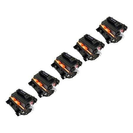 Compatível: Kit 5 Toner HP CC364A   CE390A 10k Evolut