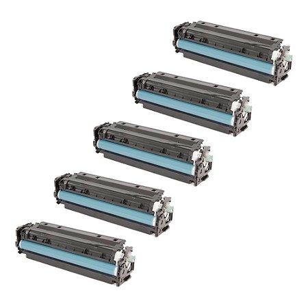 Compatível: Kit 5 Toner HP CC532A | CE412A | CF382A Yellow 2.8k Evolut