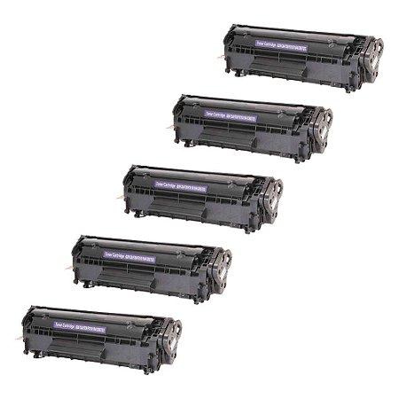 Compatível: Kit 5 Toner HP Q2612A   3050   1020 2k Evolut