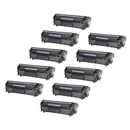 Compatível: Kit 10 Toner HP Q2612A | 3050 | 1020 2k Evolut