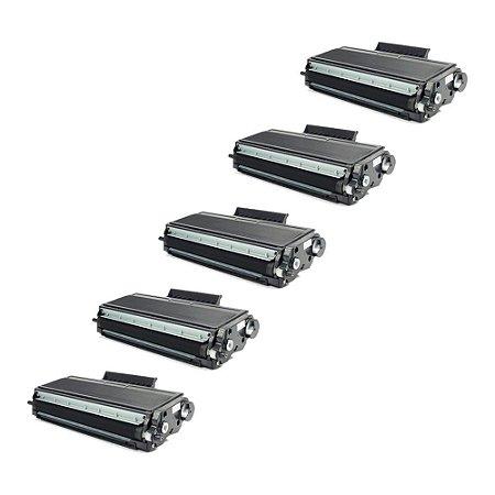 Compatível: Kit 5 Toner Brother TN650 | TN580 8k Evolut