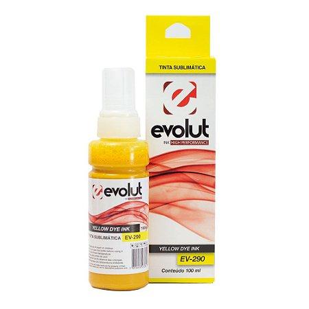 Compatível: Tinta Sublimática Epson EV-290 Yellow 100ml Evolut