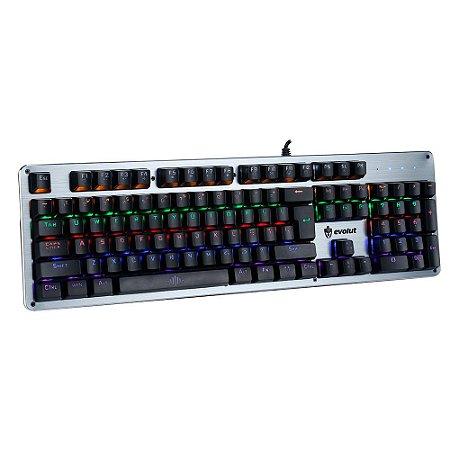 Teclado Gamer Mecânico Evolut EG208 Blacksmith Blue Switch Programável com Software