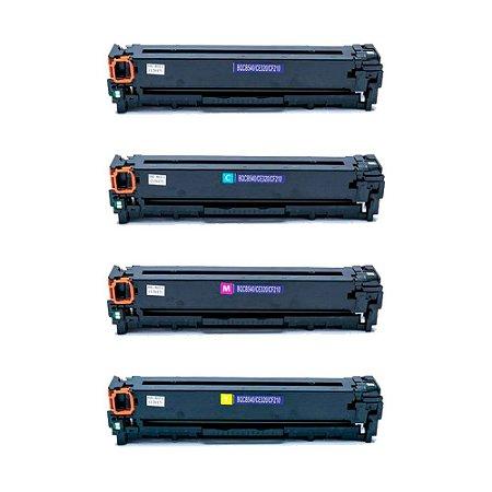 Compatível: Kit 4 Toner HP CB540A|CB541A|CB542A|CB543A CMYK Chinamate