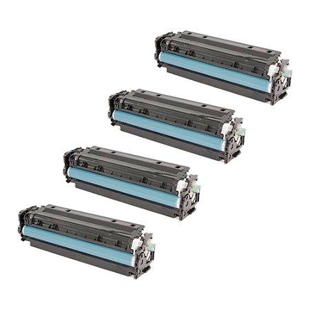 Compatível: Kit 4 Toner HP CF380A|CF381A|CF382A|CF383A CMYK Evolut