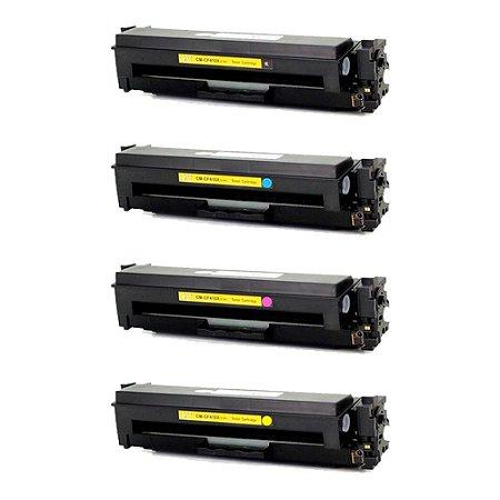 Compatível: Kit 4 Toner HP CF410X CF411X CF412X CF413X CMYK Evolut