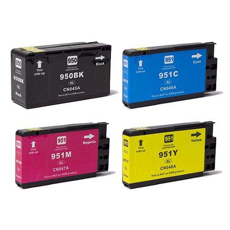 Compatível: Kit 4 Cartuchos de Tinta HP 950XL/951XL CMYK Evolut