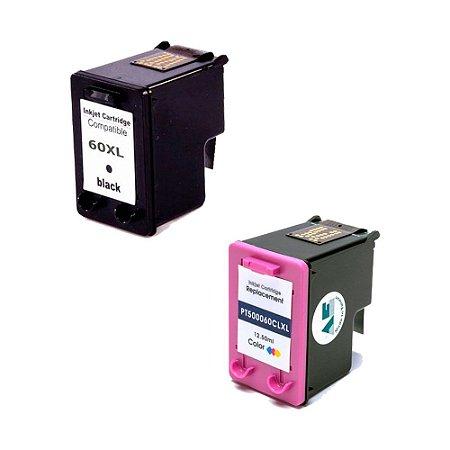 Compatível: Kit Cartucho de Tinta HP 60XL Black+Color Microjet