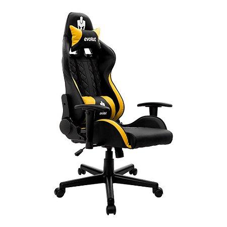 Cadeira Gamer Tanker V2 Amarela EG-905 Evolut