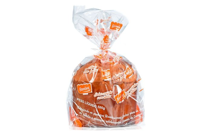 Panetone de frutas cristalizadas - Caixa com 12 unidades de 500g cada - Embalagem simples