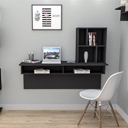 Escrivaninha para Home Office Planejado Appunto Work Smart Preto
