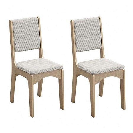 Kit 2 Cadeiras CA19/2  100 % MDF Dalla Costa Carvalho