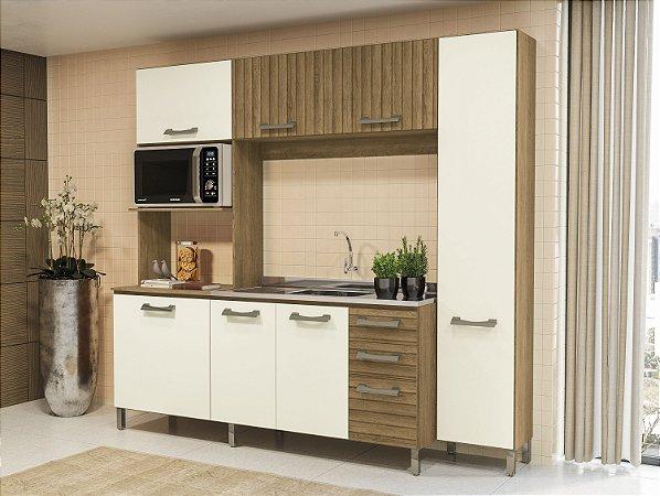 Armário Compacta Para Cozinha Freijó/Off White Kappesberg