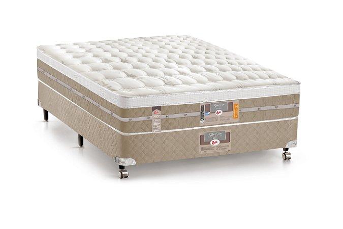 Cama Box Casal Pocket Silver Star AIR One Face 138X188x060 Castor