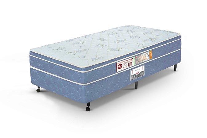 Cama Box Solteiro  Azul Castor  Sleep Max D45 088X188x60